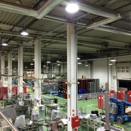 CHIO Intersnack Hungary – induction lighting at production area
